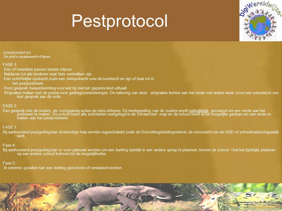Pestprotocol FASE 1: Een of meerdere pauzes binnen blijven