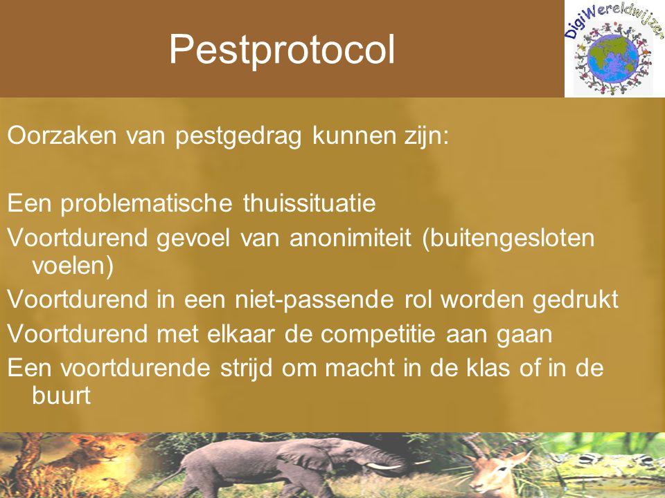 Pestprotocol Oorzaken van pestgedrag kunnen zijn: