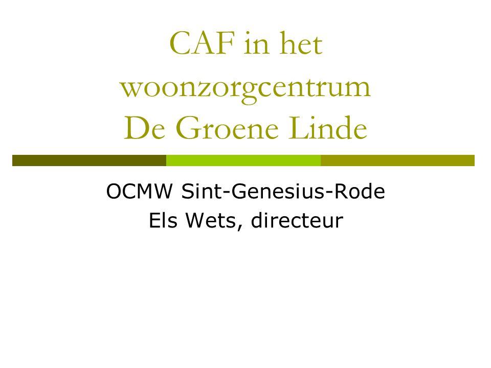 CAF in het woonzorgcentrum De Groene Linde