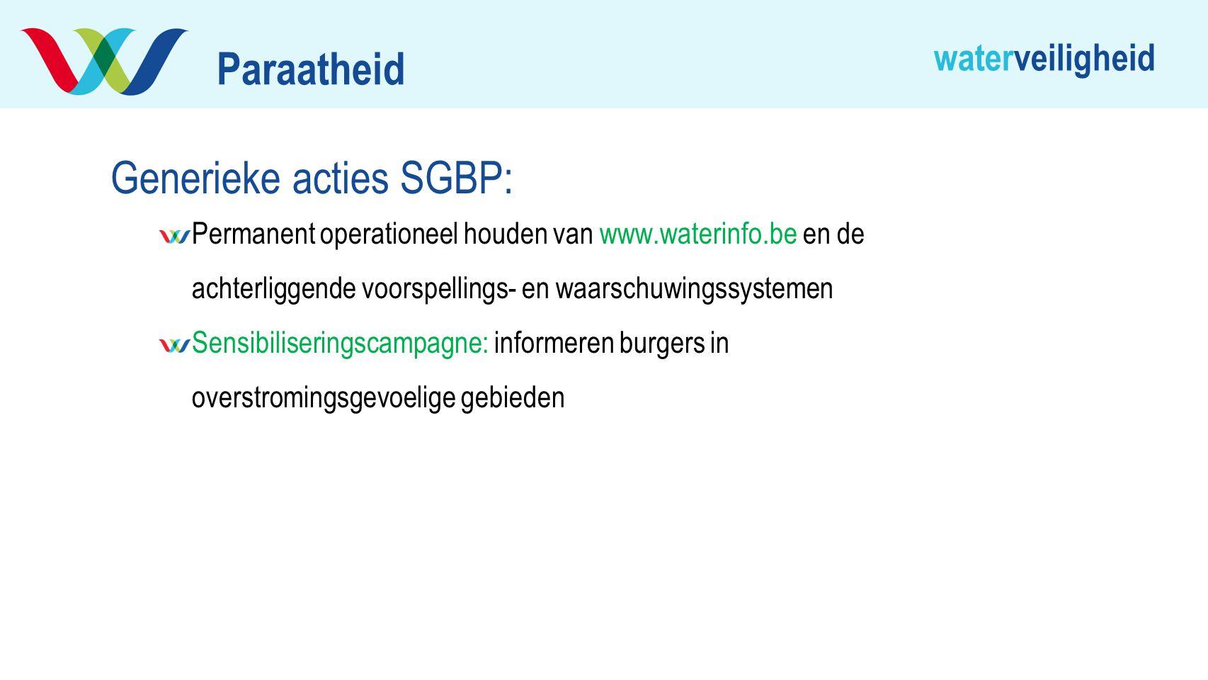 Generieke acties SGBP: