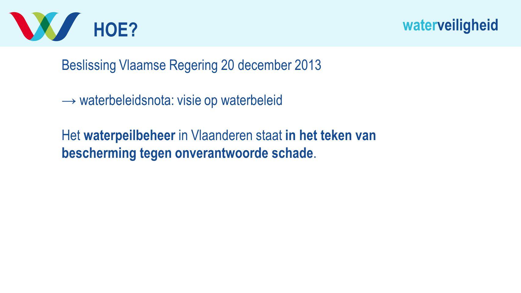 HOE Beslissing Vlaamse Regering 20 december 2013