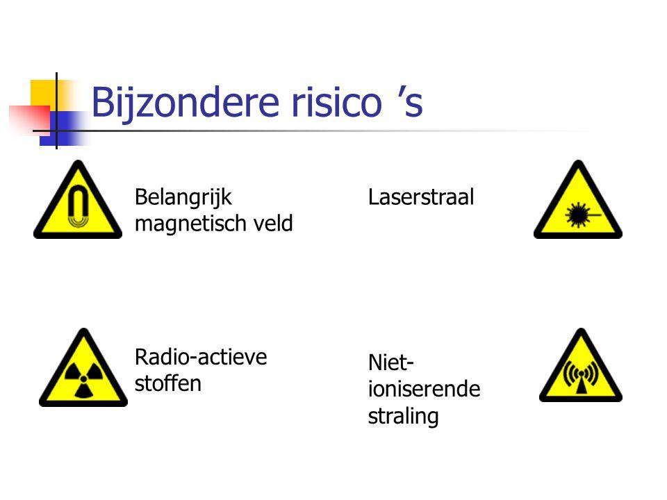 Bijzondere risico 's Belangrijk magnetisch veld Laserstraal