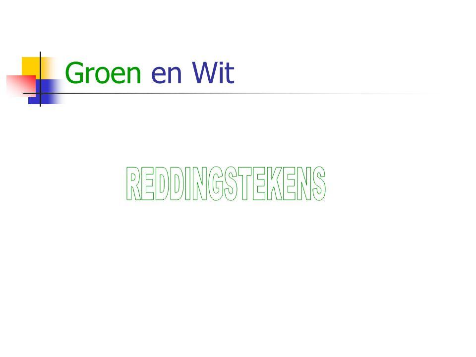 Groen en Wit REDDINGSTEKENS