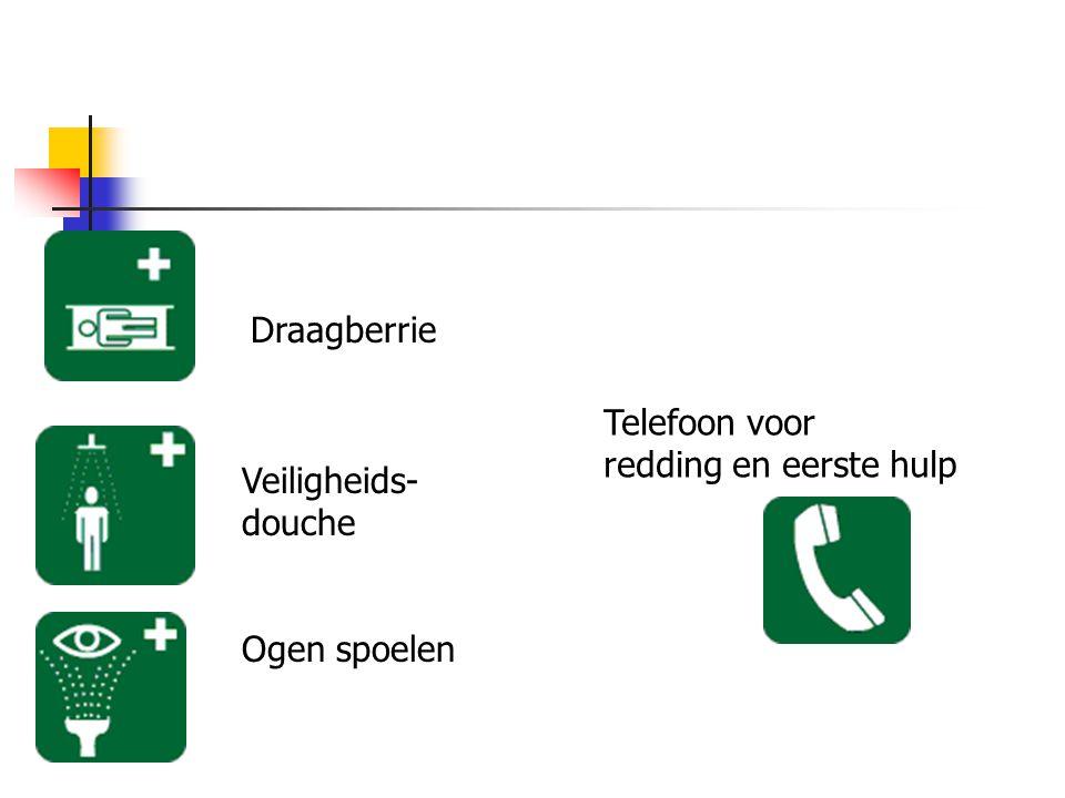 Draagberrie Telefoon voor redding en eerste hulp Veiligheids-douche Ogen spoelen