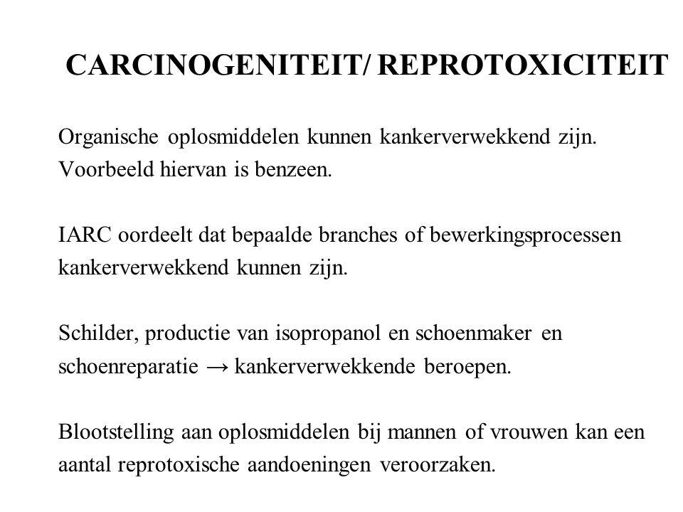 CARCINOGENITEIT/ REPROTOXICITEIT
