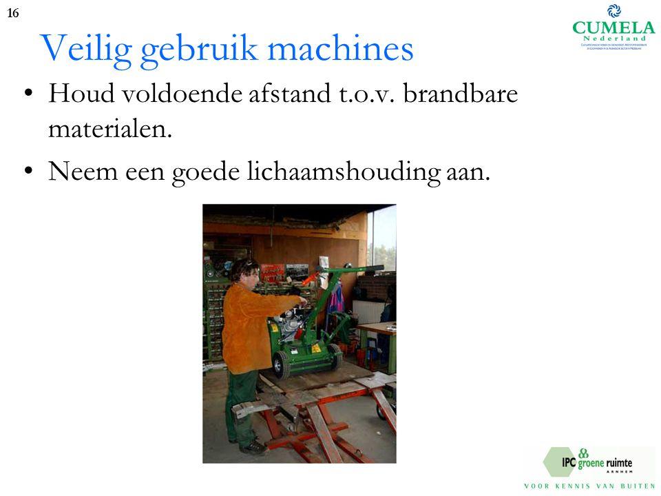 Veilig gebruik machines