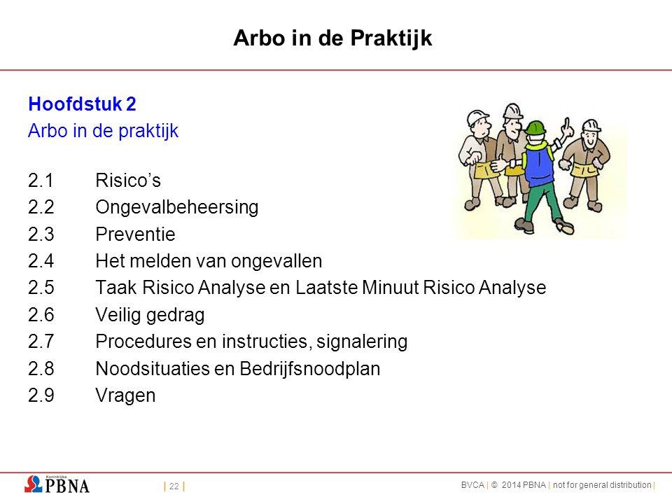 Arbo in de Praktijk Hoofdstuk 2 Arbo in de praktijk 2.1 Risico's