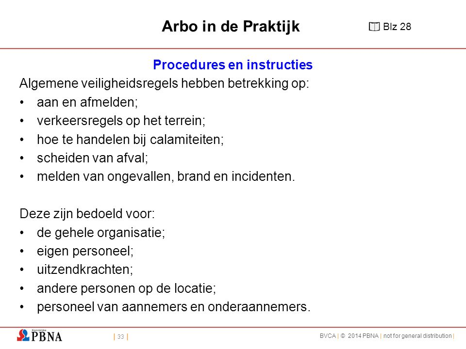Procedures en instructies