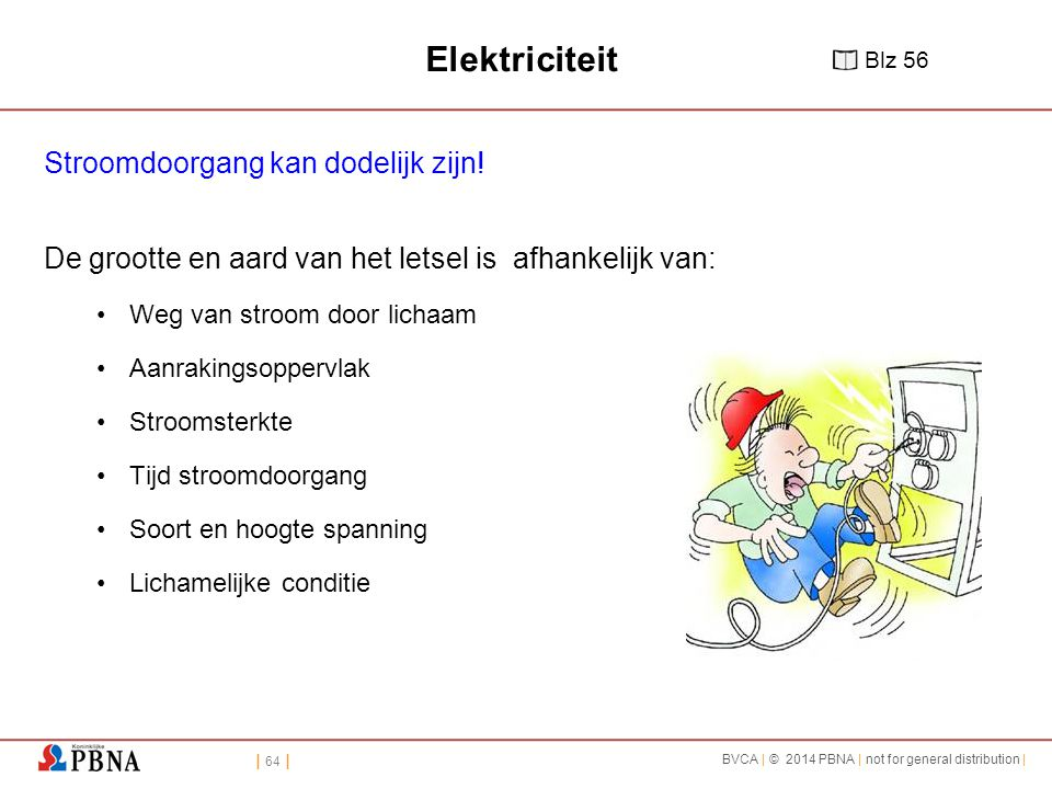 Elektriciteit Stroomdoorgang kan dodelijk zijn!