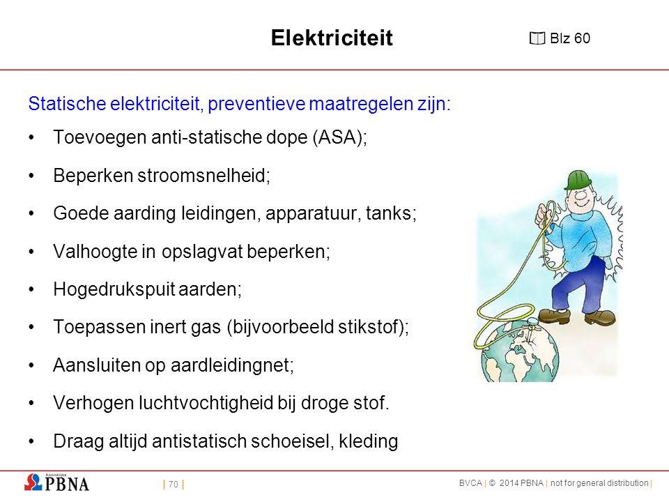 Elektriciteit Statische elektriciteit, preventieve maatregelen zijn: