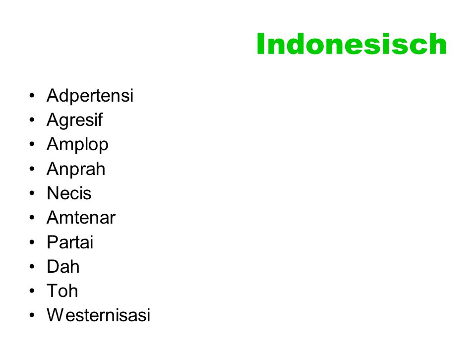 Indonesisch Adpertensi Agresif Amplop Anprah Necis Amtenar Partai Dah