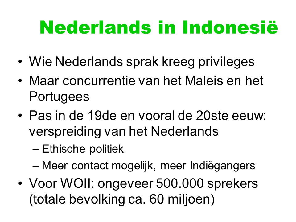 Nederlands in Indonesië