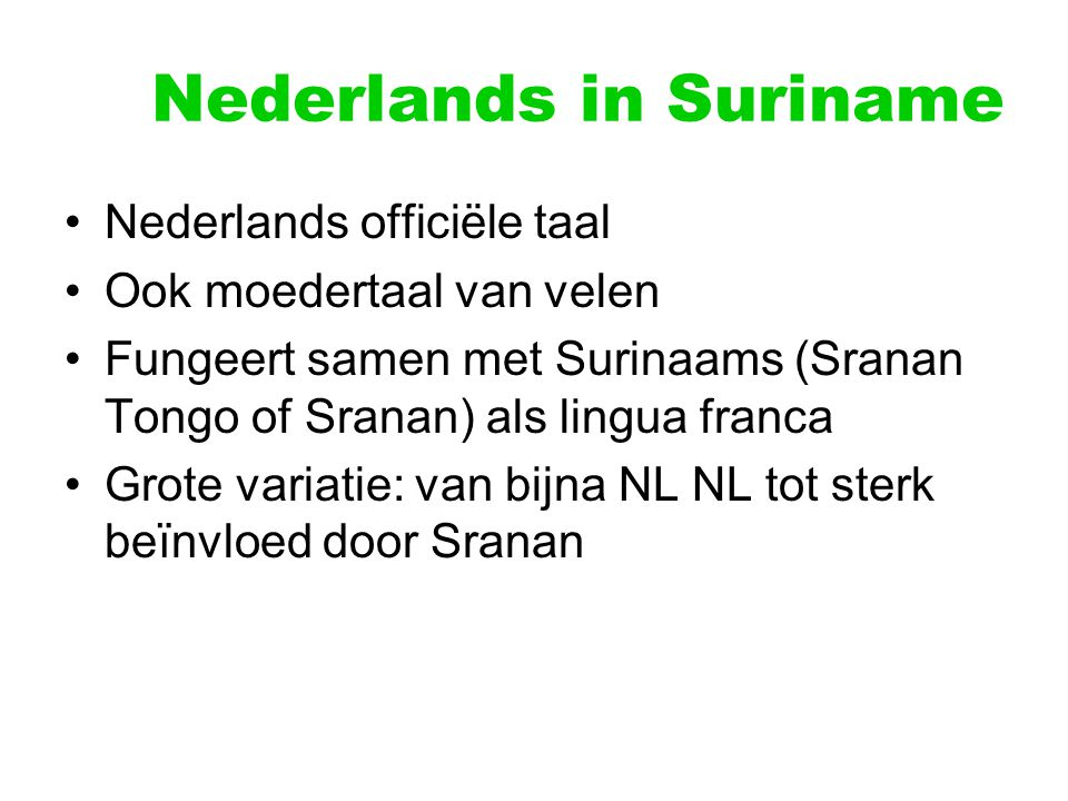 Nederlands in Suriname