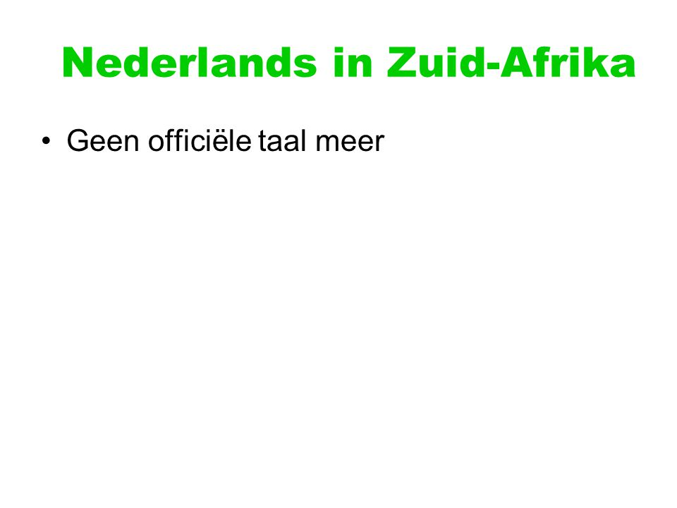 Nederlands in Zuid-Afrika