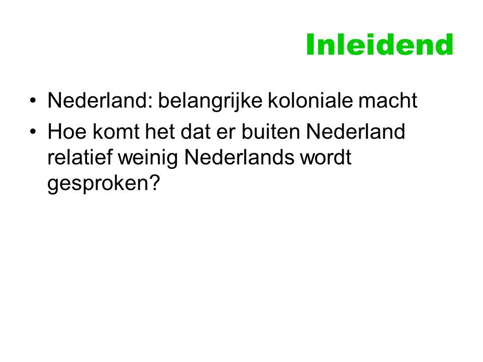 Inleidend Nederland: belangrijke koloniale macht
