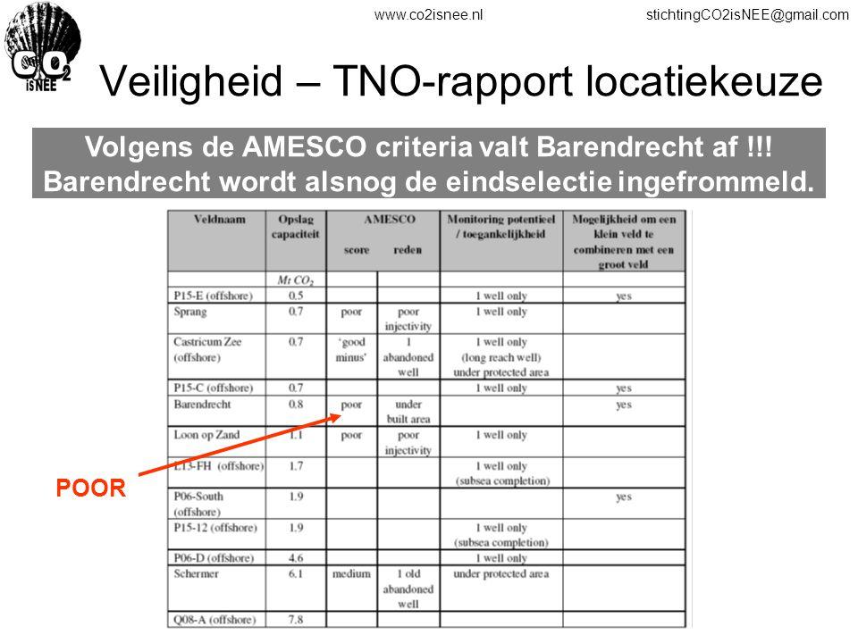 Veiligheid – TNO-rapport locatiekeuze