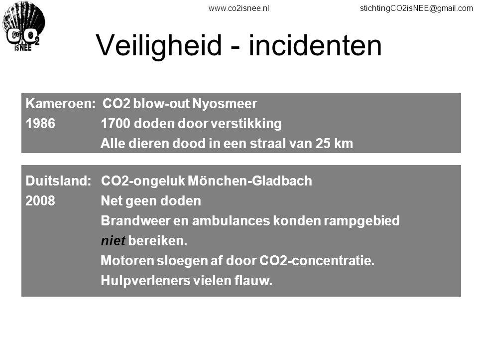 Veiligheid - incidenten