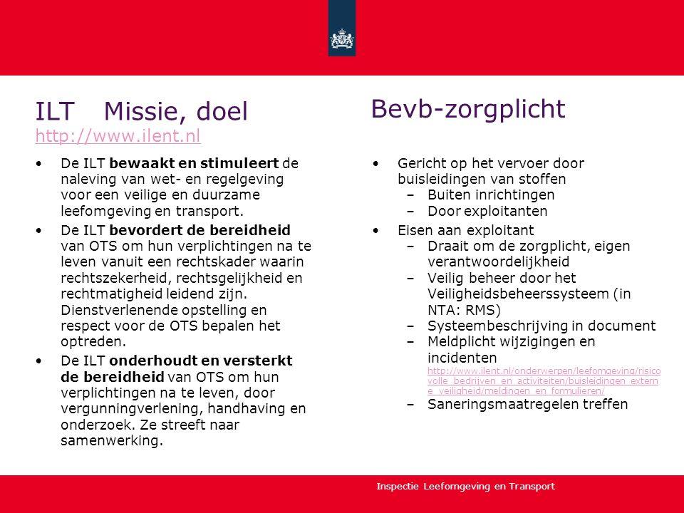ILT Missie, doel http://www.ilent.nl