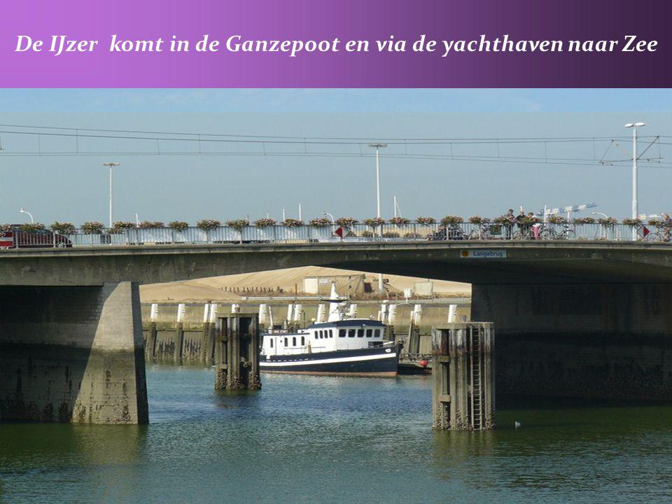 De IJzer komt in de Ganzepoot en via de yachthaven naar Zee