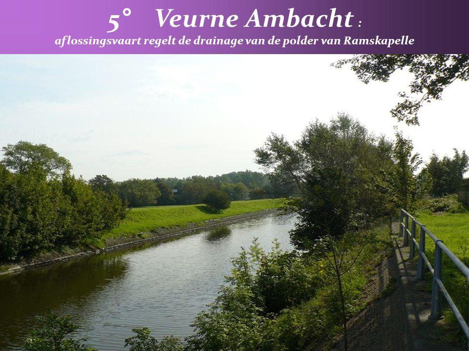 aflossingsvaart regelt de drainage van de polder van Ramskapelle