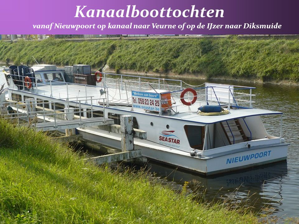 vanaf Nieuwpoort op kanaal naar Veurne of op de IJzer naar Diksmuide