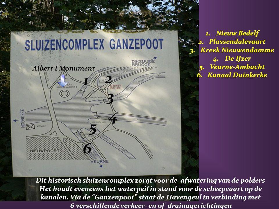 2 1 3 4 5 6 Nieuw Bedelf Plassendalevaart Kreek Nieuwendamme De IJzer