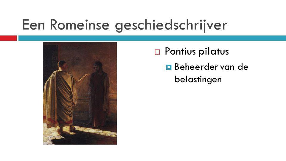 Een Romeinse geschiedschrijver