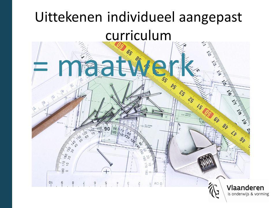 Uittekenen individueel aangepast curriculum