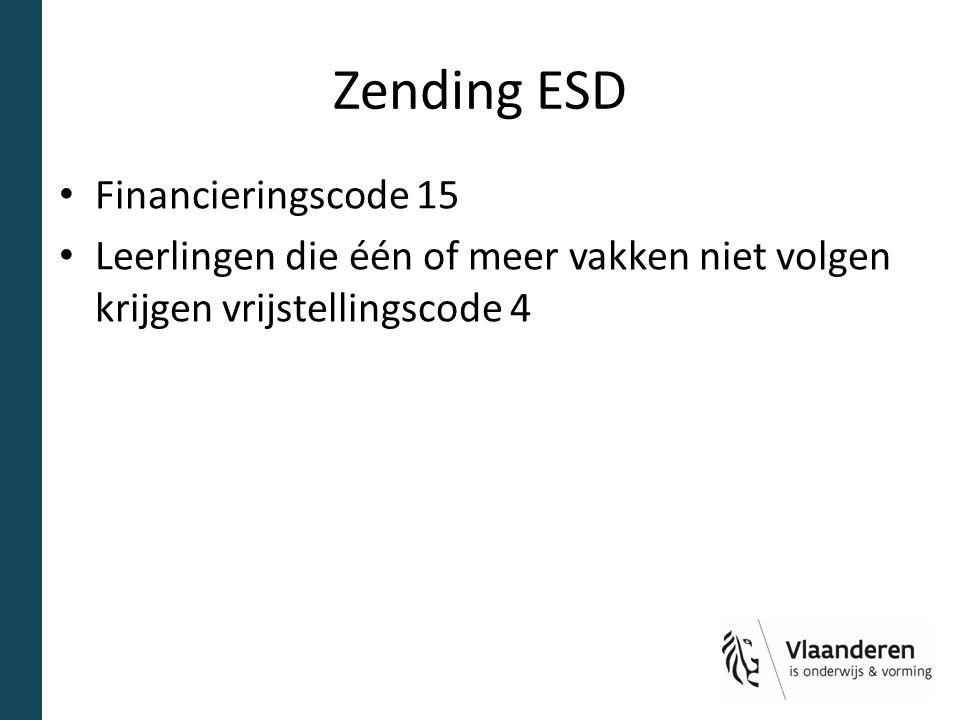 Zending ESD Financieringscode 15