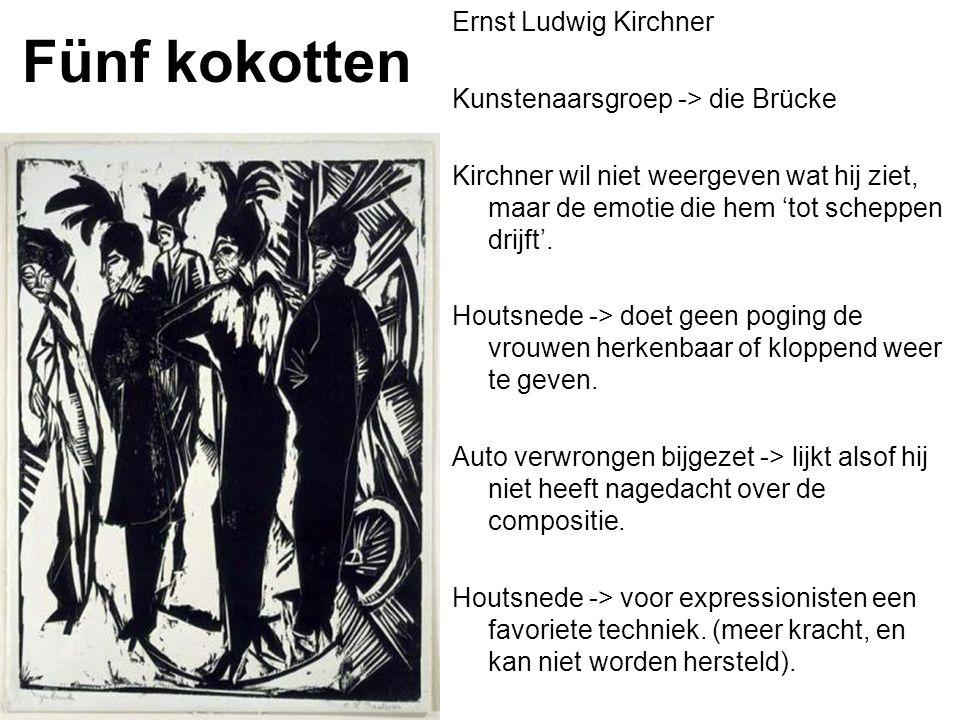 Fünf kokotten Ernst Ludwig Kirchner Kunstenaarsgroep -> die Brücke