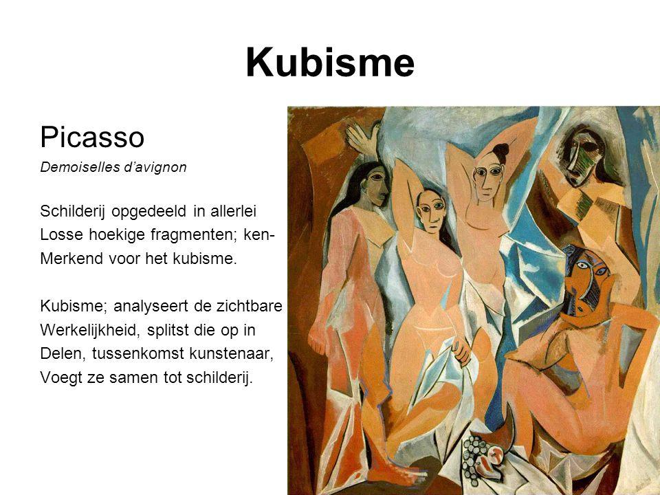 Kubisme Picasso Schilderij opgedeeld in allerlei