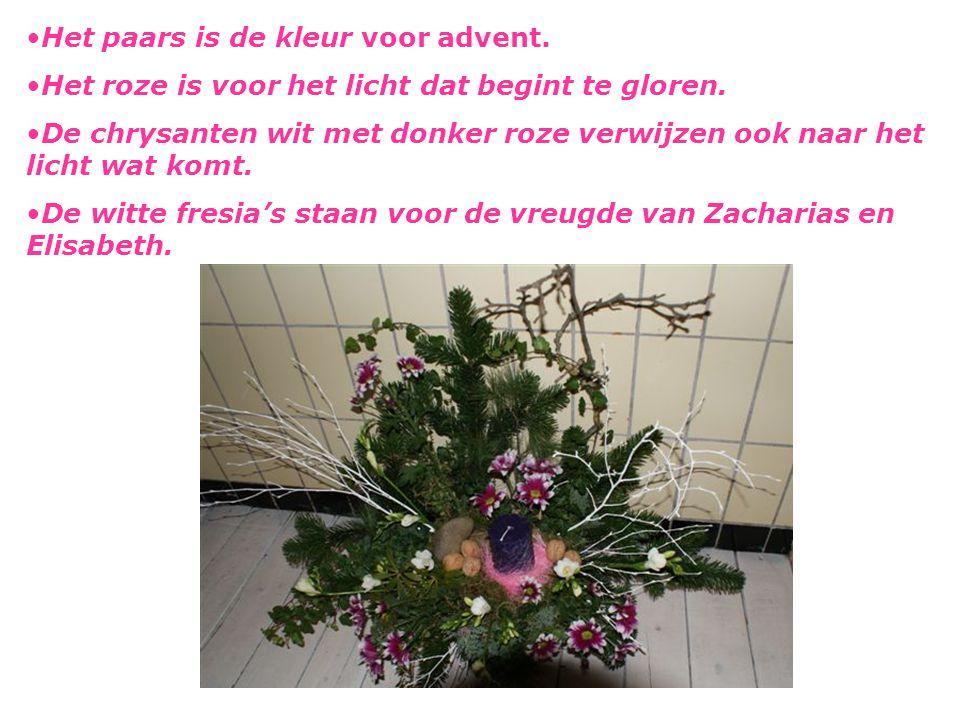 Het paars is de kleur voor advent.
