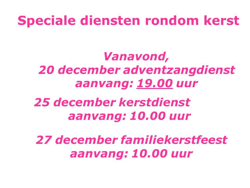 Speciale diensten rondom kerst