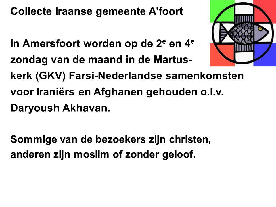 Collecte Iraanse gemeente A'foort