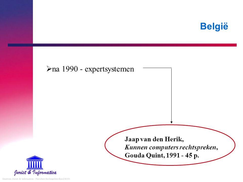 België na 1990 - expertsystemen