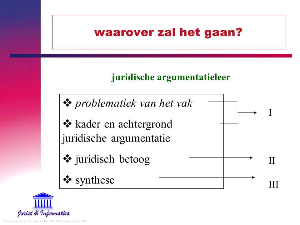 juridische argumentatieleer