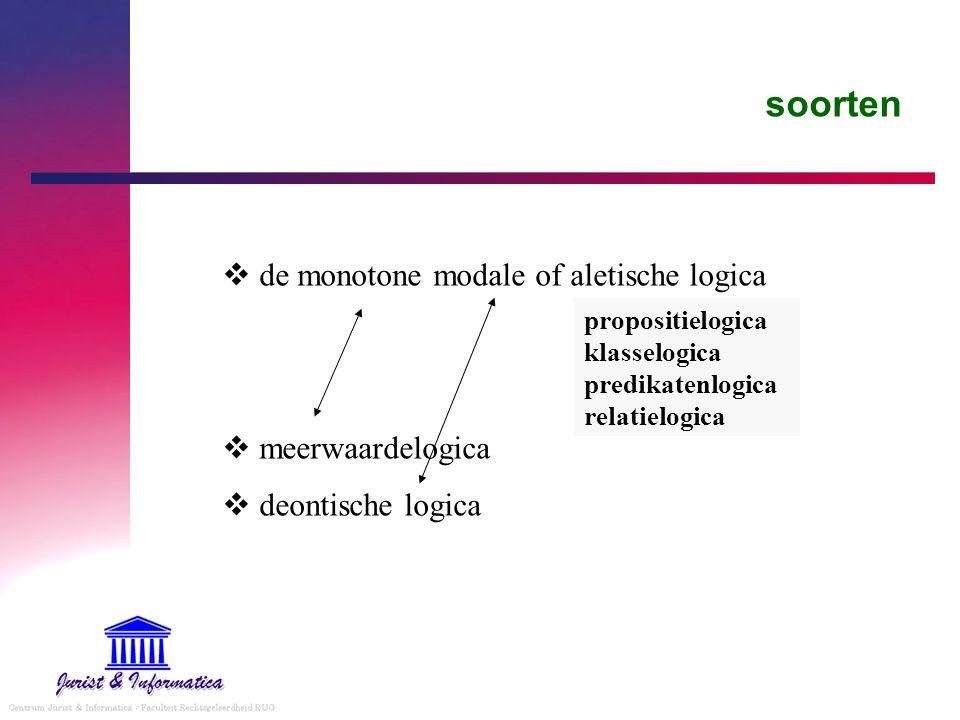soorten de monotone modale of aletische logica meerwaardelogica
