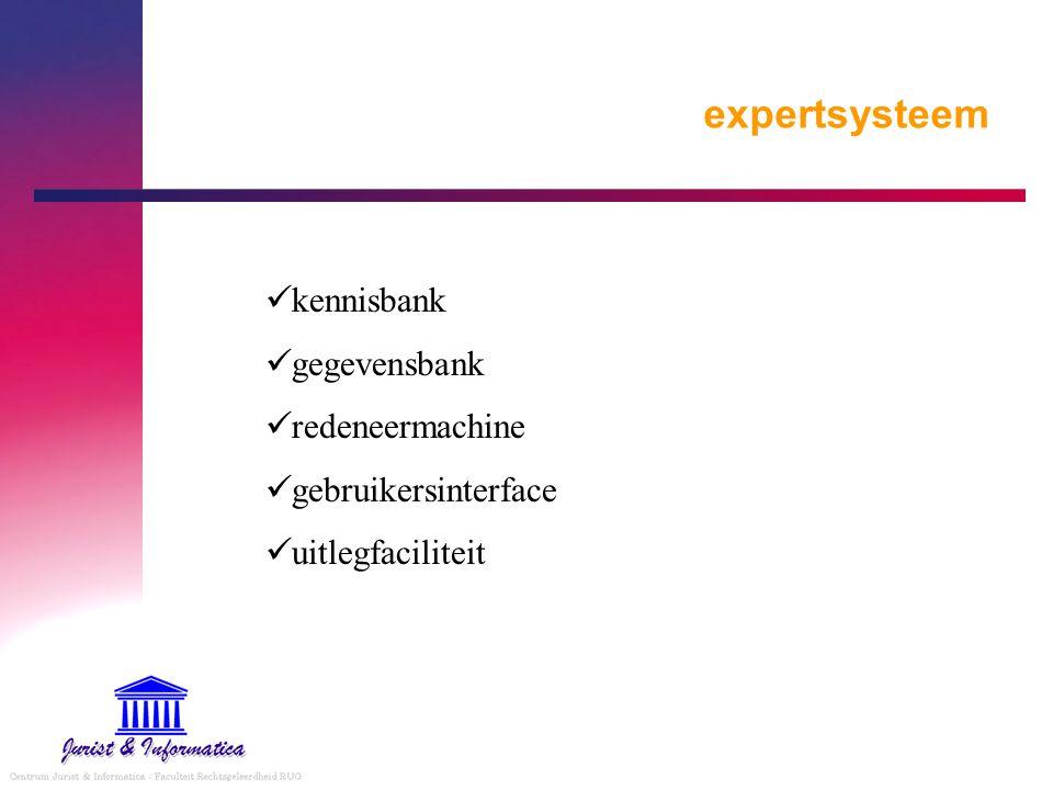 expertsysteem kennisbank gegevensbank redeneermachine