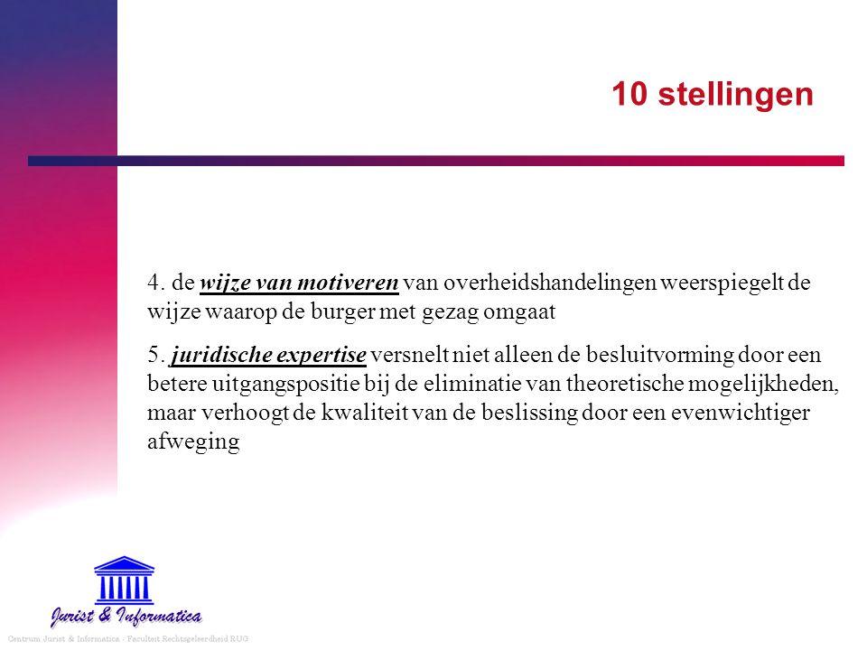10 stellingen 4. de wijze van motiveren van overheidshandelingen weerspiegelt de wijze waarop de burger met gezag omgaat.