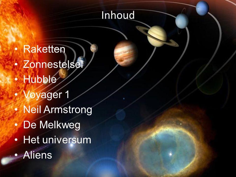 Inhoud Raketten Zonnestelsel Hubble Voyager 1 Neil Armstrong