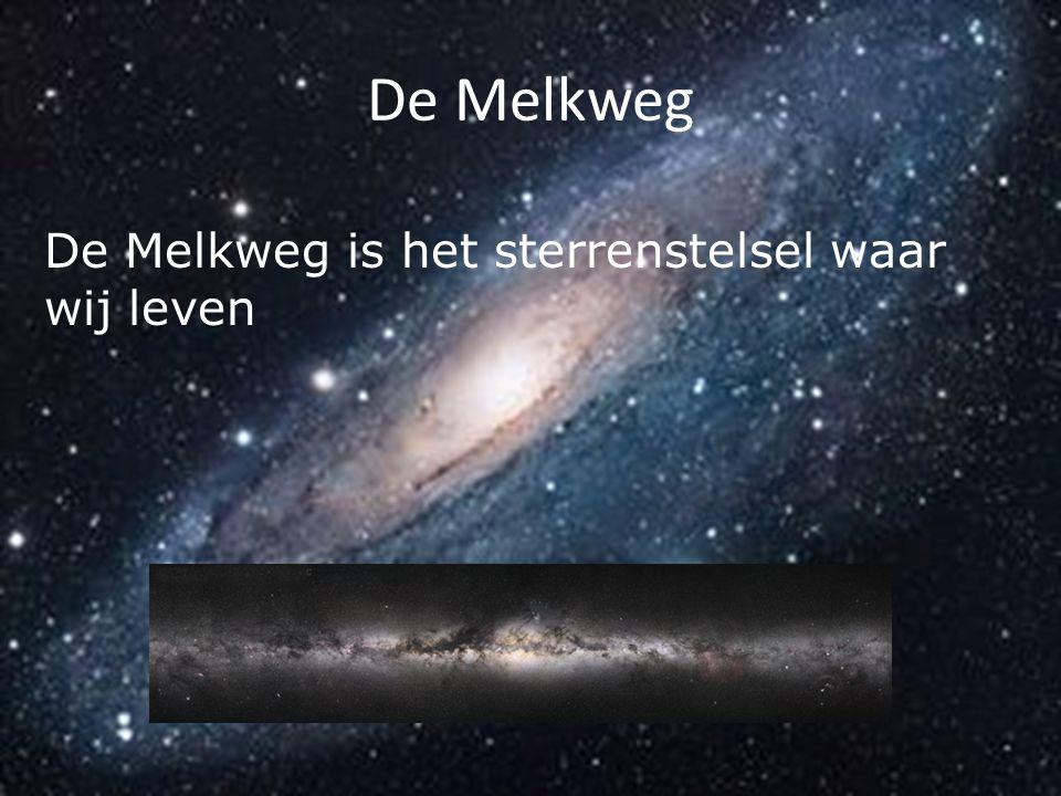 De Melkweg De Melkweg is het sterrenstelsel waar wij leven