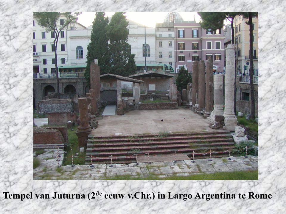 Tempel van Juturna (2de eeuw v.Chr.) in Largo Argentina te Rome
