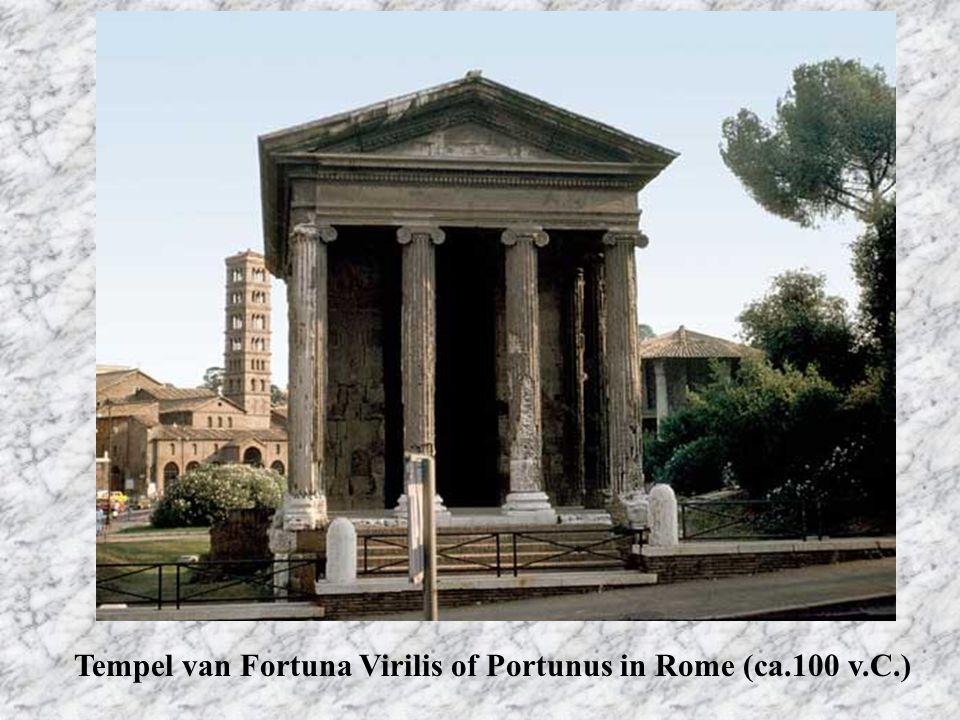 Tempel van Fortuna Virilis of Portunus in Rome (ca.100 v.C.)