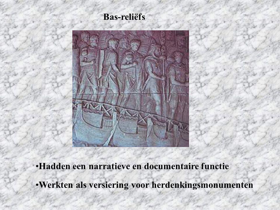 Bas-reliëfs Hadden een narratieve en documentaire functie.