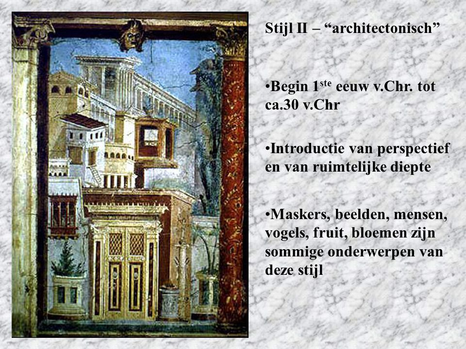 Stijl II – architectonisch