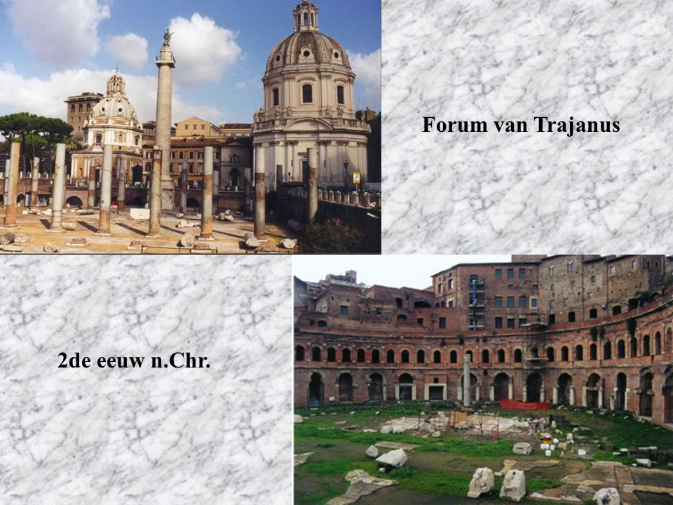 Forum van Trajanus 2de eeuw n.Chr.
