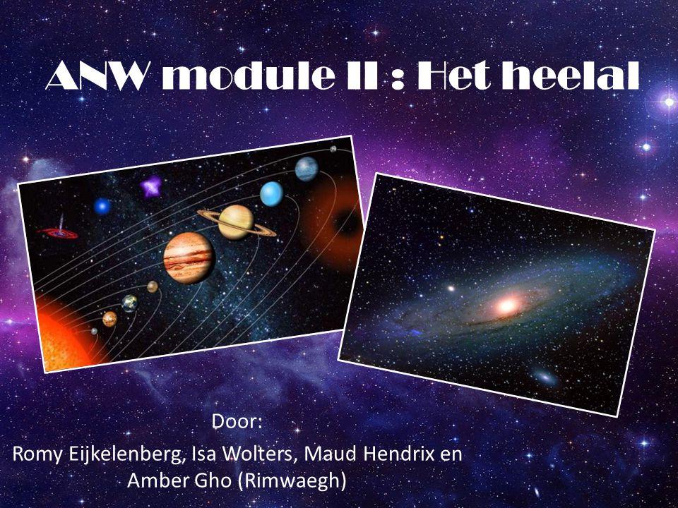 ANW module II : Het heelal