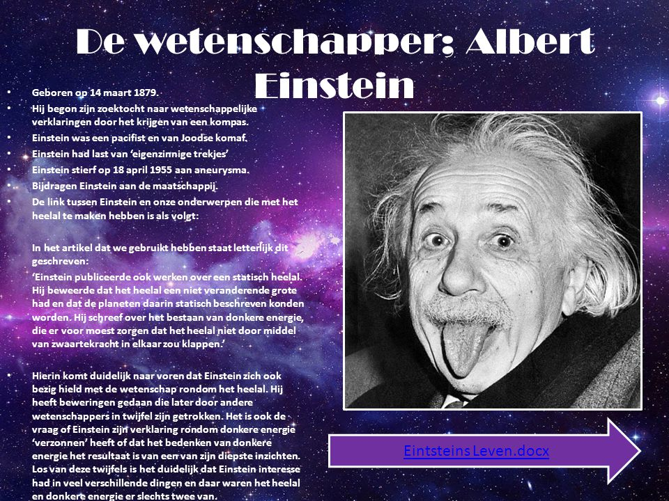 De wetenschapper; Albert Einstein