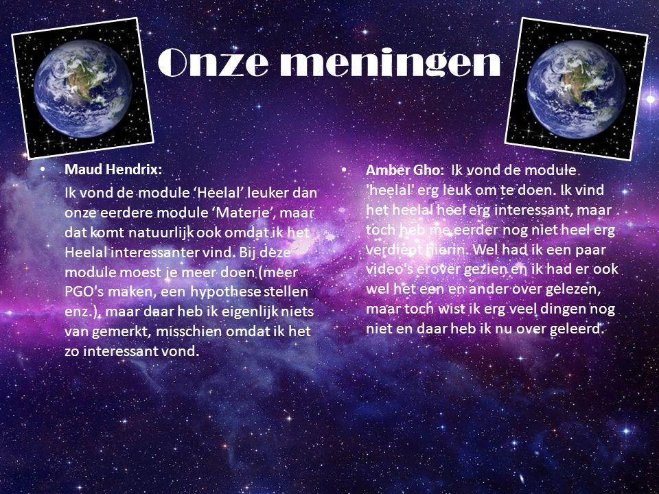 Onze meningen Maud Hendrix: