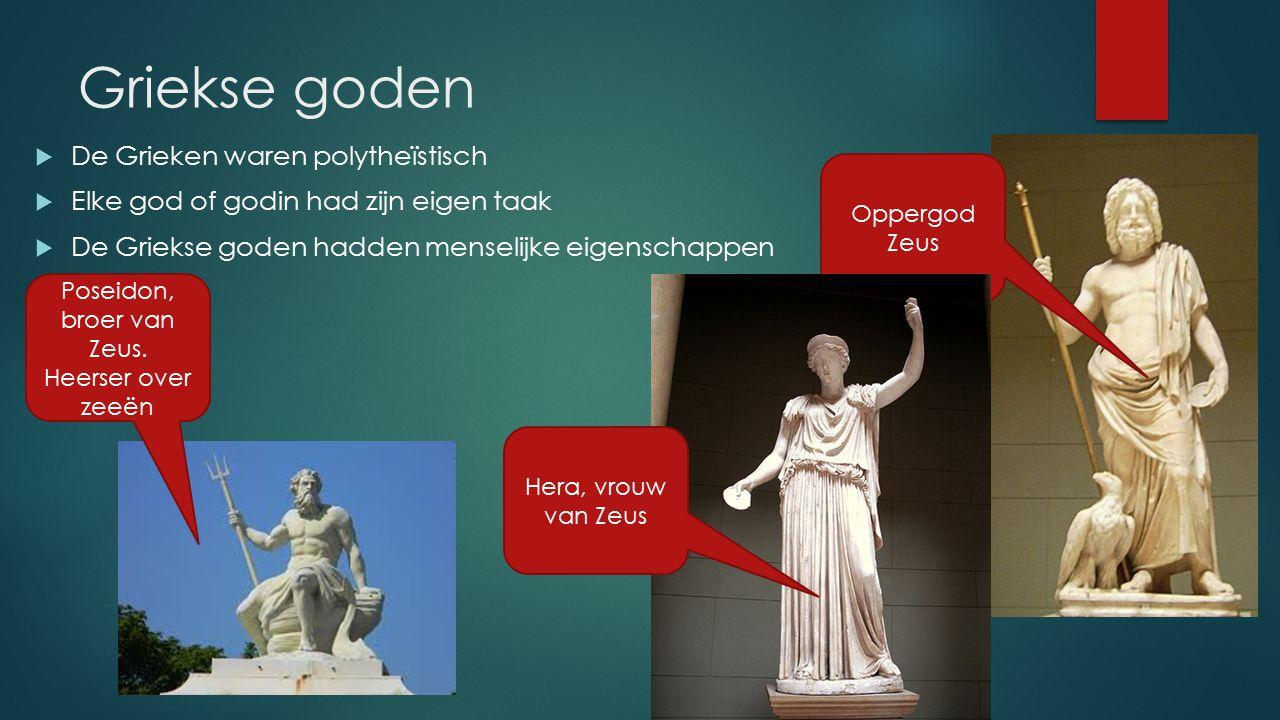 Poseidon, broer van Zeus. Heerser over zeeën